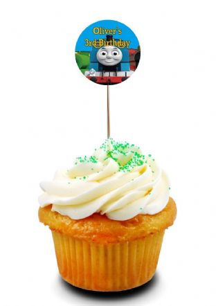 Thomas the Tank Engine Cupcake Picks/Toppers